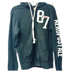 AEROPOSTALE vintage thermal zip up hoodie